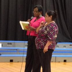 PTA president, giving information about PTA.