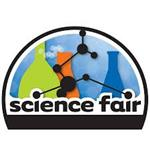 Science Fair Logo with beakers