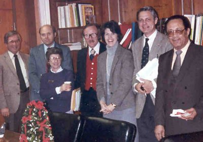 The LRSD Board of Directors, December 1981. From left: Dr. Arthur W. Gillum; Dr. Peter T. Sherrill; Fay Southern; C.O. Magee,
