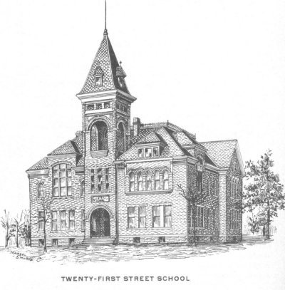 Sketch of Twenty-first street school
