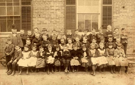 Photo: Mrs. Jenkins' 2nd grade class at Peabody, 1888. From LRSD archives.