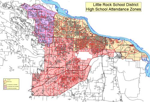 High School Zone Map