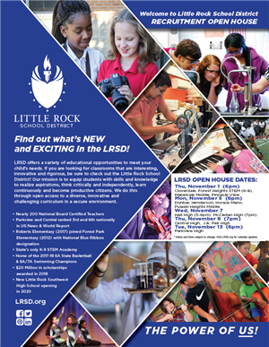 LRSD Open House Flyer