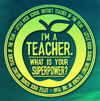 Im a teacher whats your superpower logo teacher of the year icon