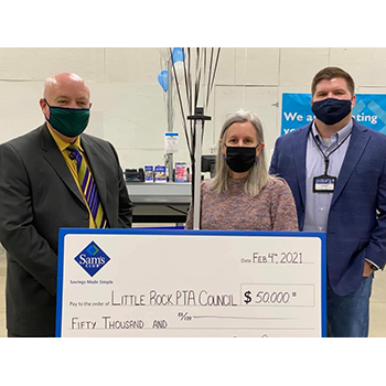 Sam's Club Celebrates Little Rock School District Educators with $50,000 Grant to PTA