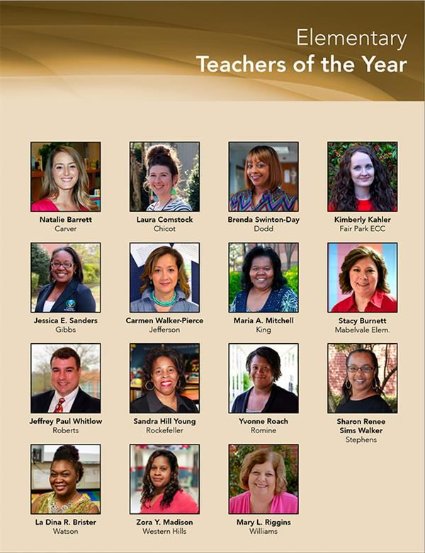 LRSD Teachers of the Year Elementary 2