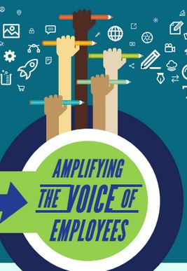 Graphic that says amplifying the voices