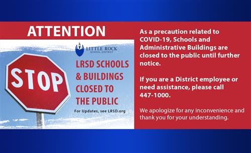 Attention  as a precaution related to COVID-19 schools and administrative buildings are closed to the public until further no