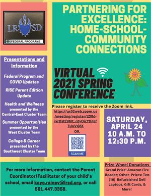 2021 LRSD PFE Virtual Spring Conference -English