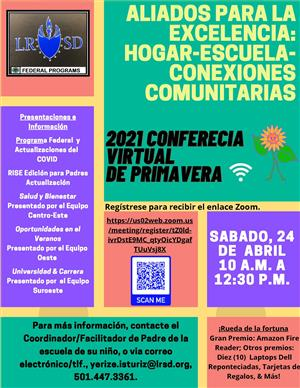 2021 LRSD PFE Spring Virtual Conference -Spanish
